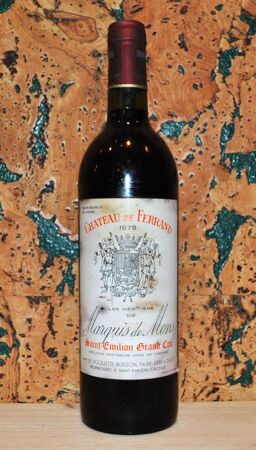 Chateau de Ferrand Bordeaux Saint-Emilion Grand Cru 1975